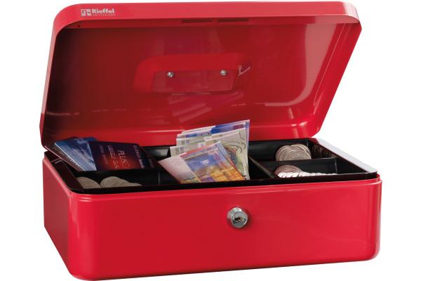 RIEFFEL Geldkassette Valorit VTGK4ROT 10x30x21,7cm rot