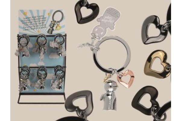 ROOST Schlüsselanhänger Schutzengel 10012547 6 Farben 3cm