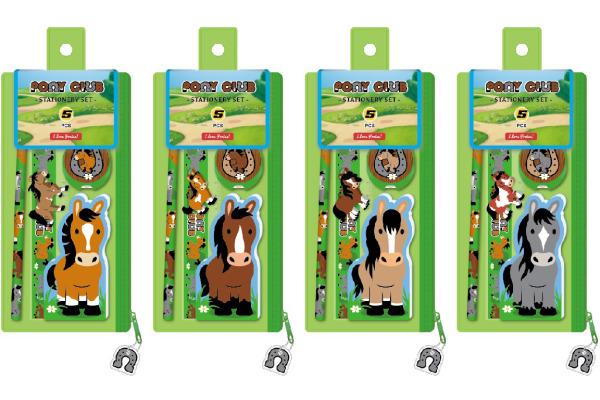 ROOST Schlamper-Etui 113451 Pony, 6-teilig