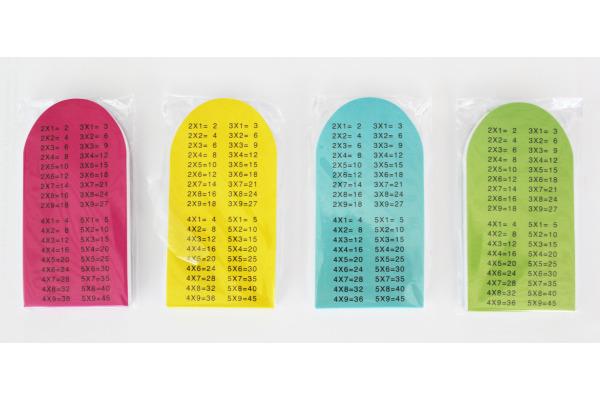 ROOST Notizblock 121586 1x1 4 Farben