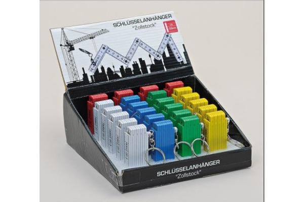 ROOST Schlüsselanhänger Klappmeter 12879 5 Farben, 50cm 3x6cm