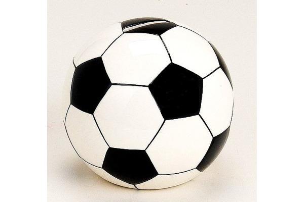 ROOST Sparkasse Fussball gross 17399 schwarz/weiss ø13cm
