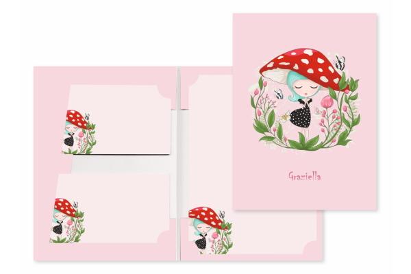 ROOST Papier/Couverts Graziella 180403 80g, pink 2x10 Stück