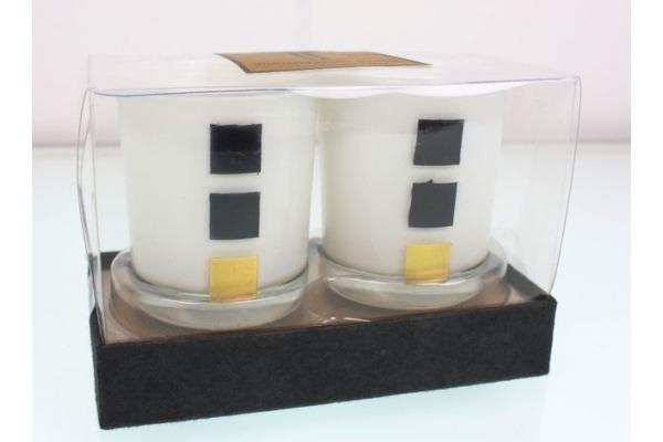ROOST Windlicht Set Myrra 20275 Glas, 2 Stück