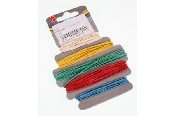 ROOST Gummibänder 31321 5 Farben/Grössen 10x14x1cm