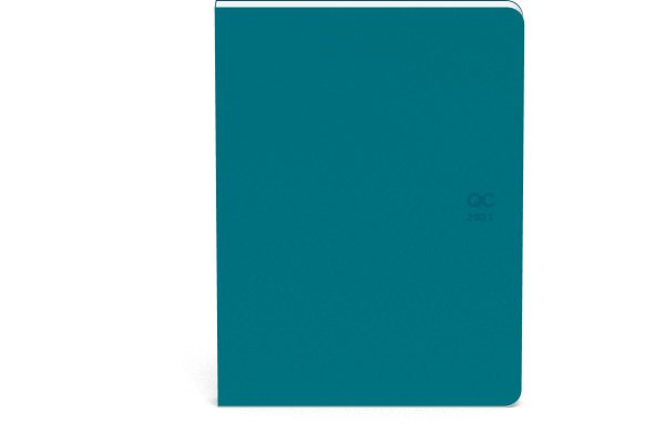 ROOST Agenda QC ON THE GO 2021 510143 Petrol Blau 1W/2S, 10.5x14cm