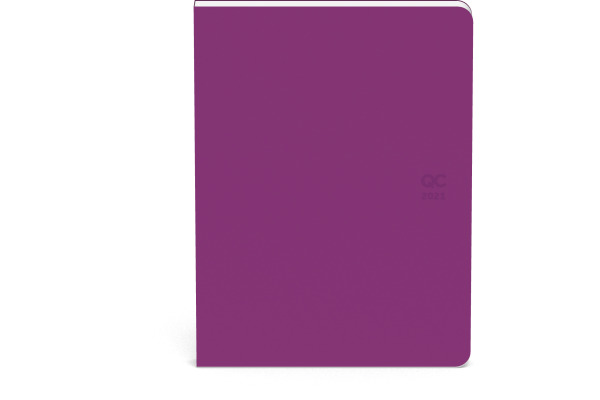 ROOST Agenda QC ON THE GO 2021 510150 Violet 1W/2S, 10.5x14cm