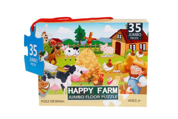 ROOST Bodenpuzzle Happy Farm 680002 60x44cm 35 Teile