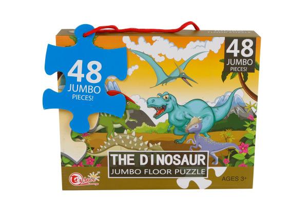 ROOST Bodenpuzzle Dinosaurier 680003 90x60cm 48 Teile