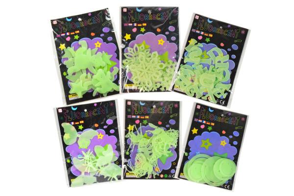 ROOST Dekosticker nachtleuchtend 68962 Sterne und Teddybären 12 pcs.