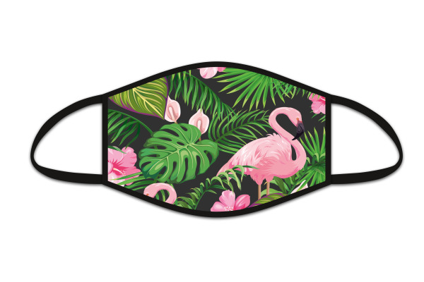 ROOST Mund-Nasen-Maske 9745 Flamingo Schwarz