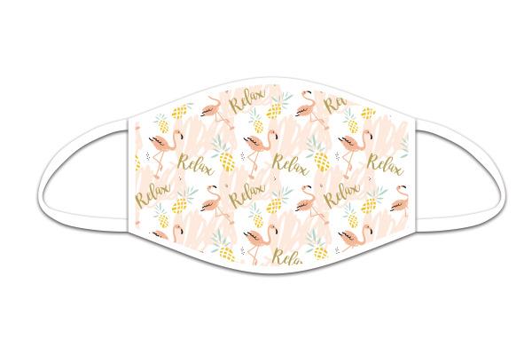 ROOST Mund-Nasen-Maske 9769 Flamingo Relax
