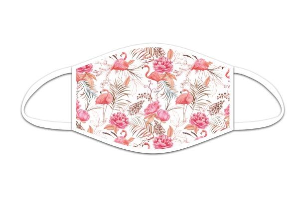 ROOST Mund-Nasen-Maske 9831 Retro Flamingo