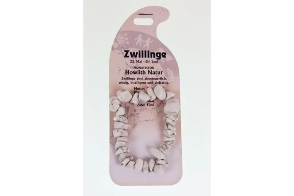 ROOST Armband Zwilling G239 Howlith natur