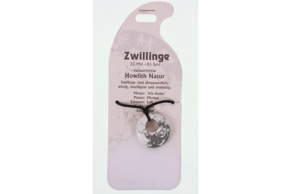 ROOST Halsband Zwilling G251 Howlith natur
