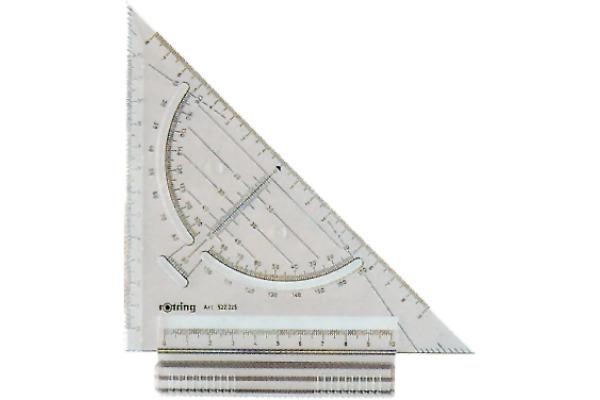 ROTRING Schnell-Zeichendreieck 18cm S0232240 grau/transp.