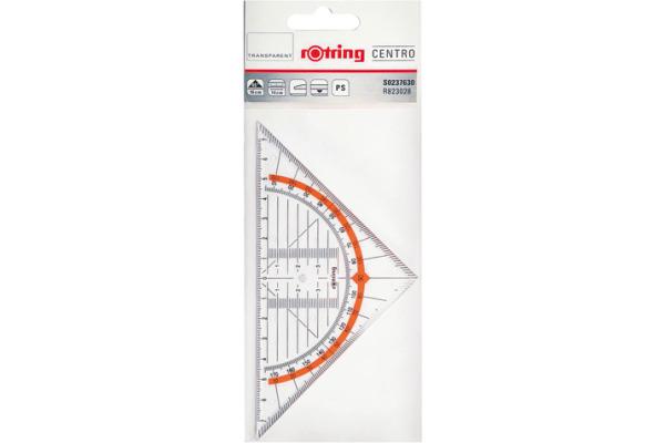 ROTRING Geo-Dreieck Centro 14cm S0237630 transparent