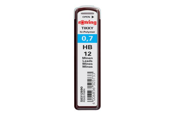 ROTRING Minen HB S0312690 0,7mm 12 Stück