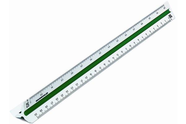RUMOLD Dreikant-Massstäbe 30cm 150/2/30 weiss