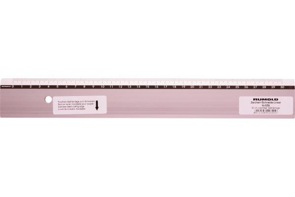 RUMOLD Zeichen-Schneidelineal 30cm 659/30 Alu