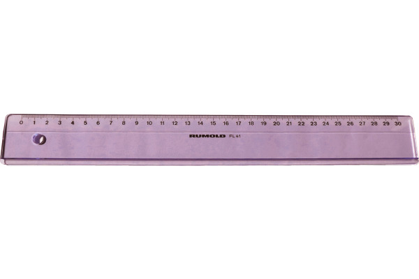 RUMOLD Technikerlineal FL 41 30cm FL 41/30 transparent