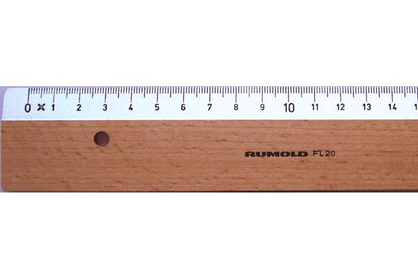 RUMOLD Flachlineal 30cm FL20/30 weiss