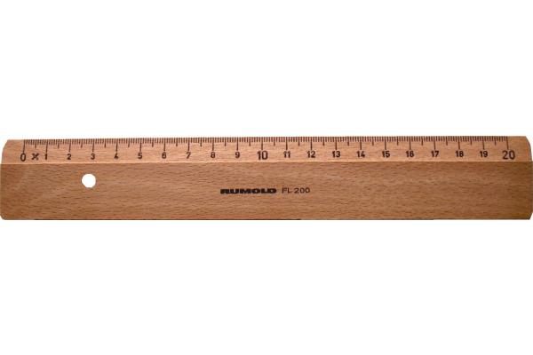 RUMOLD Flachlineal 20cm FL200 20 Buche