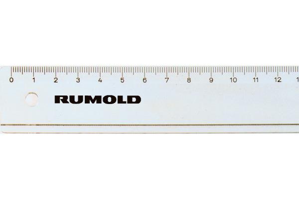 RUMOLD Schullineal 20cm FL42/20 transparent