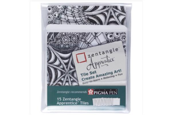 SAKURA Zentangle Apprentice Tile Set ZA15TCGB 15...