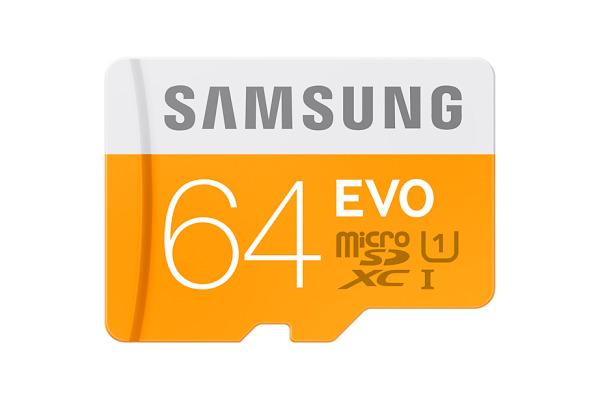 SAMSUNG Micro-SDHC Card Evo 64GB MB-MP64GA with Adapter Class 10 100MB/s