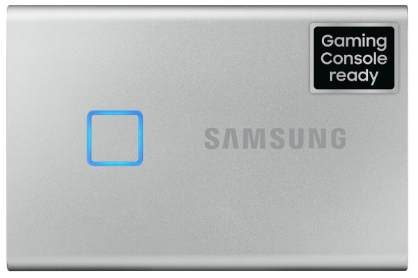 SAMSUNG SSD Portable T7 Touch 1TB MU-PC1T0S USB 3.2 Gen. 2 silver