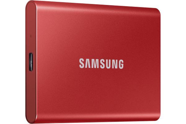 SAMSUNG SSD Portable T7 2TB MU-PC2T0R USB 3.1 Gen. 2 Metallic red