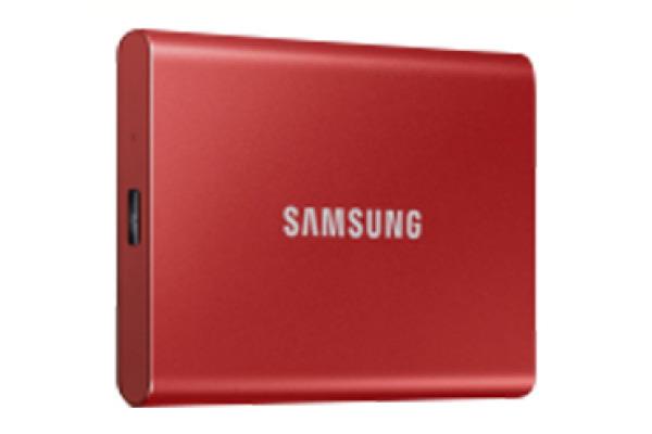 SAMSUNG SSD Portable T7 500GB MU-PC500R USB 3.1 Gen. 2 Metallic Red