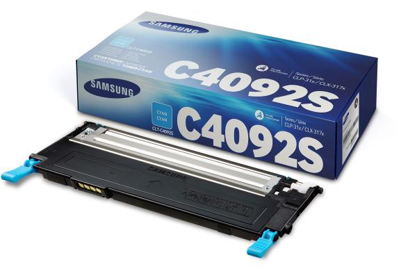 SAMSUNG Toner cyan CLT-C4092 CLP 310/315 1000 Seiten