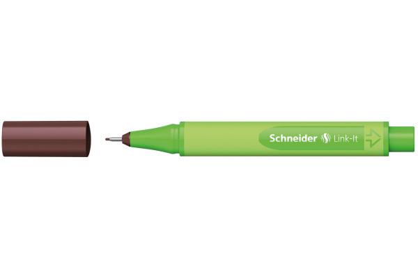SCHNEIDER Fineliner Link-It 191218 dunkelbraun