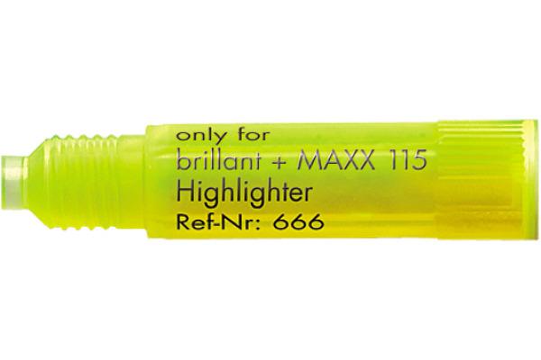 SCHNEIDER Textmarker refill 6665 gelb 3 Stück