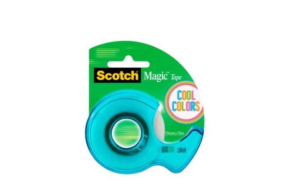 SCOTCH Dispenser Cool Color 19mmx19m 122-COL-EU 4 Farben...