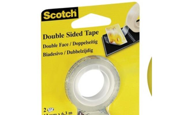 SCOTCH Tape refill 665 12mmx6.3m 136-1263R doppelseitig 2 Rollen