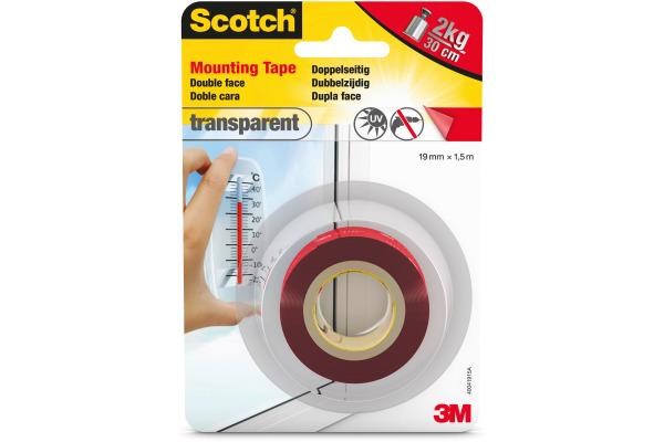 SCOTCH Montageband 19mm×1,5m 40041915 transparent