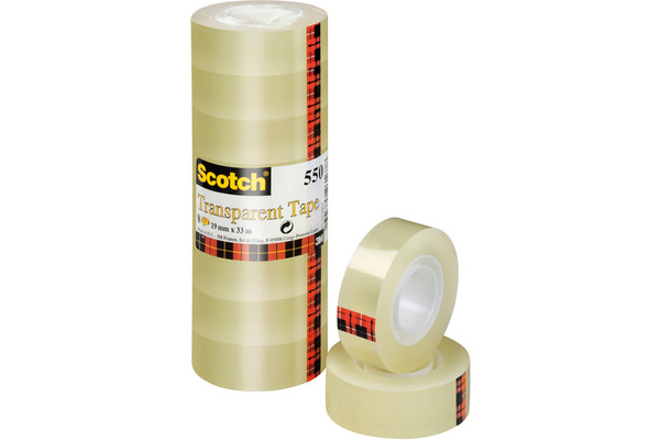 SCOTCH Tape 550 19mmx33m 5501933K transparent, reissfest