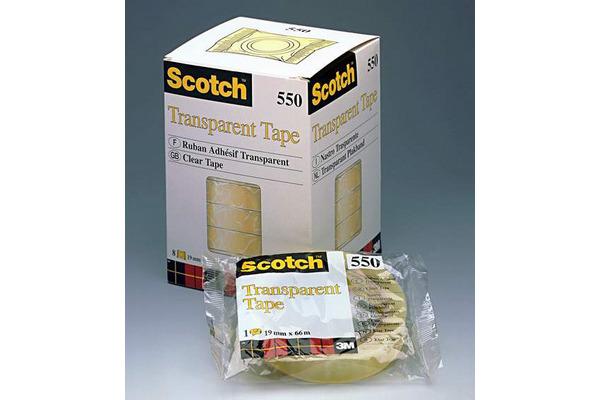 SCOTCH Tape 550 19mmx66m 5501966K transparent, reissfest