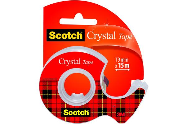 SCOTCH Crystal Tape 600 19mmx15m 6-1915D mit Abroller