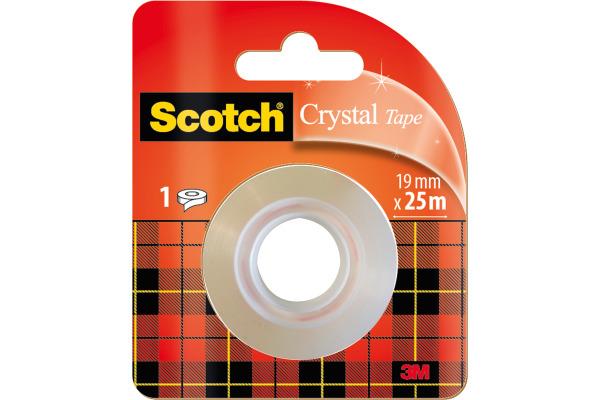 SCOTCH Rolle Crystal 600 19mmx25m 6-1925R transparent