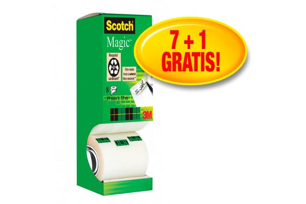SCOTCH Magic Tape Turm 810 19mmx33m 8-1933R8 unsichtbar 8...