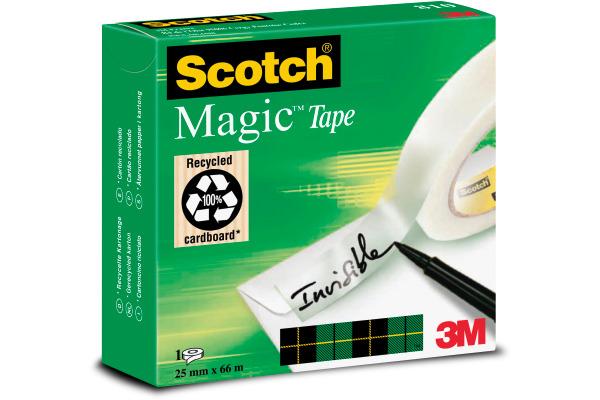 SCOTCH Magic Tape 810 25mmx66m 8102566K unsichtbar, refill