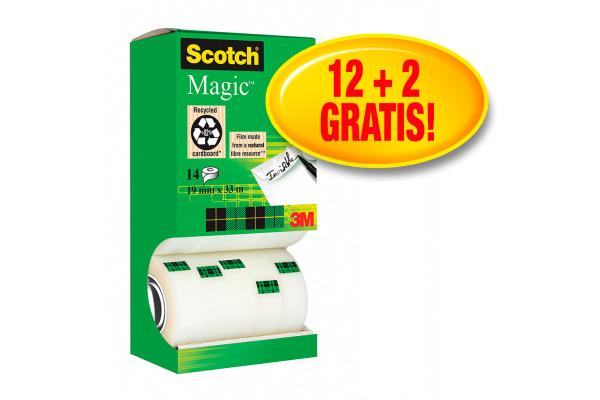 SCOTCH Magic Tape 810 EcoBox 19mmx33m 81933R14RTR...
