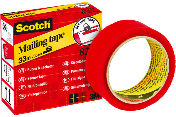 SCOTCH Sigelband 820 33mx35mm 820-RED3533 rot