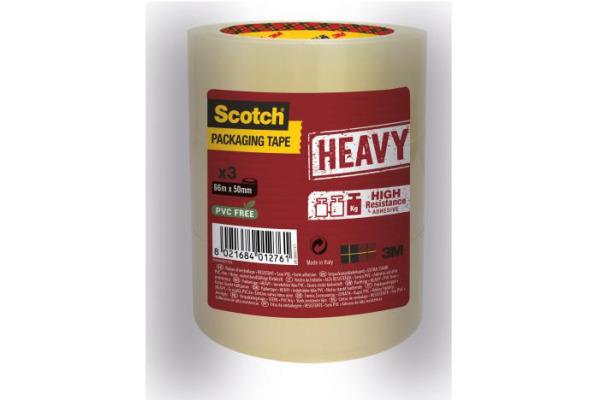 SCOTCH Verpackungsband 50mmx66m HV5066T3T transparent 3...