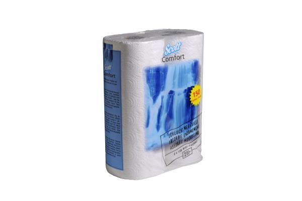 SCOTT Haushaltpapier Comfort H5312591 2-lagig 2 Rollen
