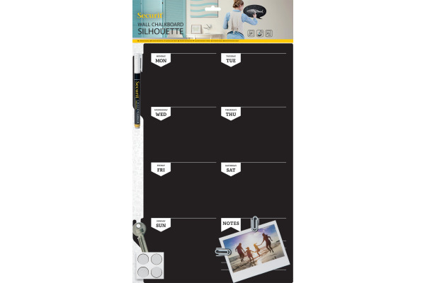 SECURIT Wand-Kreidetafel PLAN FB-PLAN schwarz 44.9x30x0.3cm